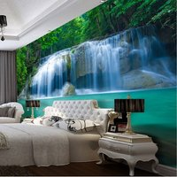 free-shipping-3d-waterfall-pool-painting-print-design-wallpaper-mural-wall-art