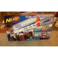 Nerf N-Strike Elite Retaliator Blaster Soft Darts Gun 4 Blasters in One 90FT