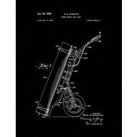 Power Driven Golf Cart Patent Print - Black Matte