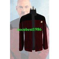 Star Trek Picard Black Red Velvet Jacket Costume all size coat
