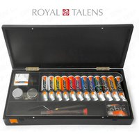 Royal Talens - Cobra Artist Water Mixable Oil Art Set in Premium Black Gift B...