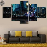 5 Pcs Overwatch Widowmaker Game Poster Wall Picture Printed Canvas Painting