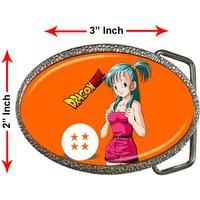 Bulma Dragon Ball Z Characters Son Goku TV Anime Games Steel Chrome Belt Buckle