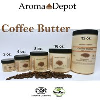 100% Organic Butters Pure Raw Fresh Natural 2 oz to 2 Lb Coffee Butter Grade A