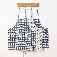 animals-story-apron-bbq-sleeveles-pinafore-kitchen-cooking-cotton-linen-cloth