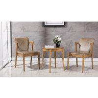 american-eagle-ck-h001-brown-end-table-2-accent-chairs-set-3pcs