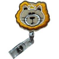 fashion-retractable-cute-applique-lion-head-reels-id-document-card-badge-holders