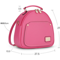 Free Shipping Women Leather Shoulder Bags Medium Backpacks L311-1