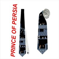 necktie-prince-of-persia-bits-video-gamer-retro-pixel-game-nerd-classic-neck-tie