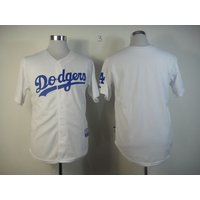 No Number Blank Jerseys Dodgers white home t shirts