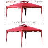 117-x-117-gazebo-replacement-canopy-top-cover-dual-tier-outdoor-garden-patio