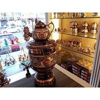 electric-tea-maker-tea-machine-copper-samovar-kettle-pot-decorative-desing-te