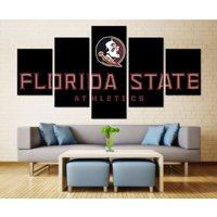 5 Pcs Football Canvas Print Florida State Seminoles Painting Wall Art Home Decor