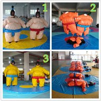 Wrestling Sumo Suit Adult Pair Wrestler Dress Sport Entertainment Costume/1 Set