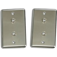 2-osp-duplex-stainless-steel-wall-plates-2-female-trs-stereo-14-connector-jack