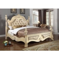 meridian-monaco-antique-white-button-tufted-king-size-poster-bed-carved-wood