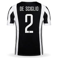 All New De Sciglio #2 Juventus Home 2017-2018 Men Soccer Jersey + Full Patches
