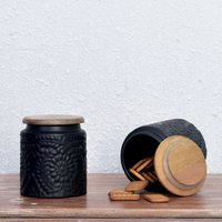 casa-decor-antique-ceramic-multipurpose-storage-jar-black