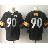 #90 T.j. Watt Pittsburgh Steelers Mens Rookie Elite Home Jersey - Black New
