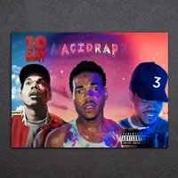 1 Pcs Chance The Rapper Music Wall Pictures Home Decor Printed Canvas Painting