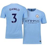 All New Danilo #3 Manchester City Home 17/18 Men Soccer Jersey + Epl Badge