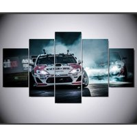 TOYOTA 86 FRS BRZ Racing Car  5 Piece Canvas Art Wall Art Picture Home Decor