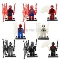 SY188 Marvel Spiderman Figure 8pcs Venom Peter Parker Minifigure Lego Block AB2