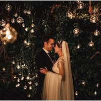 12/24/36/70 Glass Ball Globe Shere Hanging Tealight Candle Holder Wedding 8cm