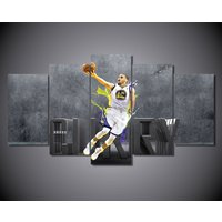 5Pcs Golden State Warriors Curry Home Decor Wall Picture Printed Canvas Painting