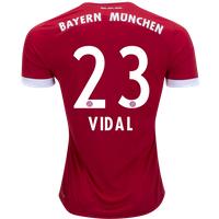 All New Arturo Vidal #23 Bayern Munchen Home 2017-2018 Men Soccer Jersey