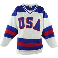 Blank Number 1980 Miracle On Ice Usa Movie Stitched Hockey Jersey White
