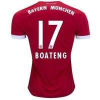 All New Jerome Boateng #17 Bayern Munchen Home 2017-2018 Men Soccer Jersey