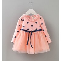 peach-dress-for-baby-girls-polka-dot-baby-shower-gifts-surprises-orange