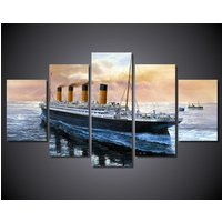 5 Pcs Titanic Movie Boat Home Decor Wall Picture Printed Canvas Painting