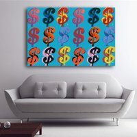 1 Pcs Andy Warhol Money Incase Poster Wall Picture Canvas Painting 24x36inch