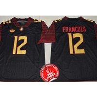 12 Deondre Francois - Florida State Seminoles Football Stitched Jersey #black