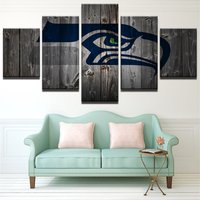 5 Pcs Seattle Seahawks Rugby Wall Picture Home Decor Printed Canvas Painting