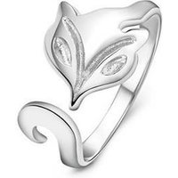 Fox 925 Sterling Silver Ring -  One Size