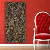 1 Pcs Number 5 Jackson Pollock 1948 Wall Picture Canvas Painting 20x40inch