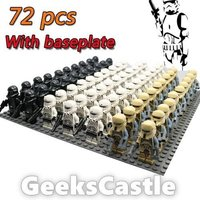 Custom 72 pcs Imperial Death Shore Tank Stormtrooper Minifigures Fits Lego