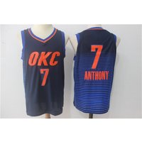 17 - 18 New Season Oklahoma City Thunder Okc Carmelo Anthony Jersey Nba Game