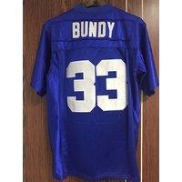 Al Bundy #33 Polk High Football Jersey Married With Children Bloods Thicker Blue