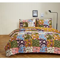 3pc-antique-bloom-floral-print-olivia-heartland-quilt-2-shams-3-sizes