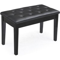 black-ebony-wood-leather-piano-bench-padded-double-duet-keyboard-seat-storage