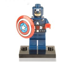 1 pcs Super Heroes Captain America Minifigure Building Blocks Fit Lego