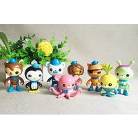 8pcs The Octonauts Action Figure Set Captain Barnacles Cake Topper Dolls Gift