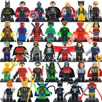 SA set Wood Marvel DC Super Hero Figures 200+ Avengers minifigure blocks lego Cl