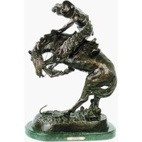 """Rattlesnake"" Solid Bronze Collectible Sculpture Statue by F. Remington Regular"