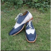 handmade-men-two-tone-shoes-men-white-navy-spectator-shoe-wingtip-shoes