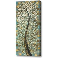 Abstract Tree White Cherry Blossom Canvas PRINT Curvy Bonsai Wall Art Large tall